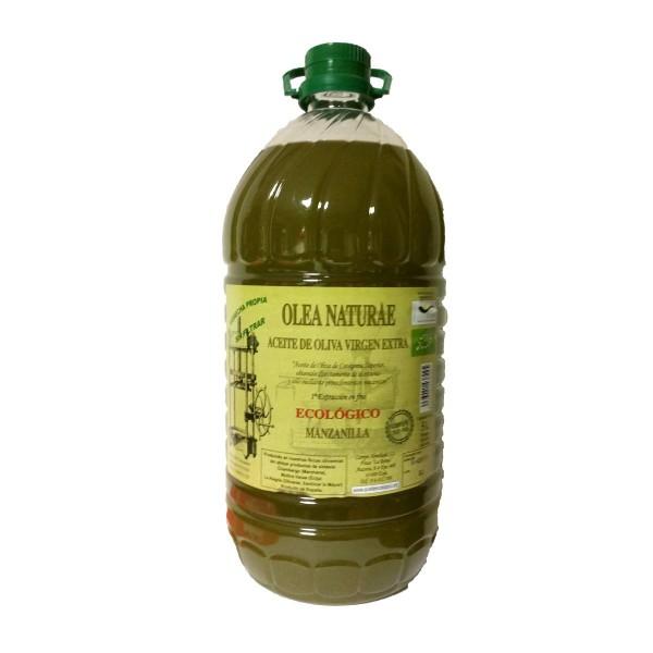 Aceite Ecologico Virgen Extra Manzanilla Garrafa 5 Litros