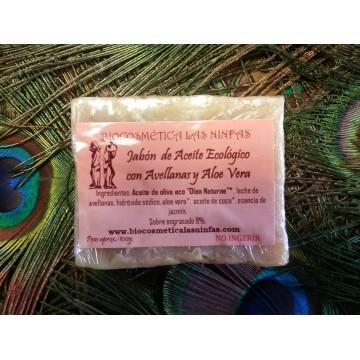Jabón de Aceite Ecológico con Avellanas y Aloe Vera