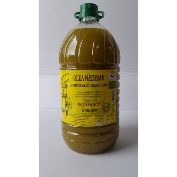 Aceite Ecologico Virgen Extra Picolimón Garrafa 5 Litros