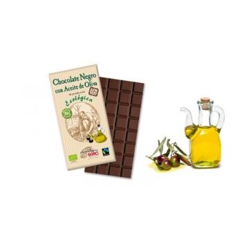 Chocolate negro con aceite de oliva, 73% cacao.