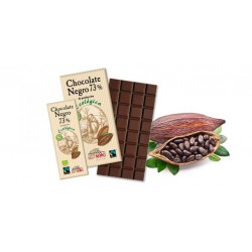 Chocolate negro con almendras, 73% cacao. 150g