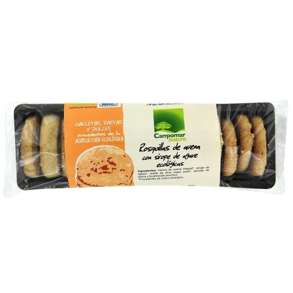 Rosquillas de avena con sirope de agave Ecológicas 150 g.