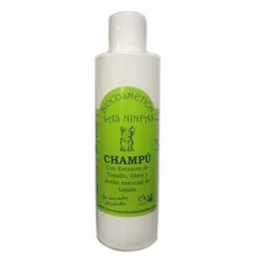 Champú Ecológico con Extracto de Tomillo, Olivo y Aceite esencial de Limón (250ml)