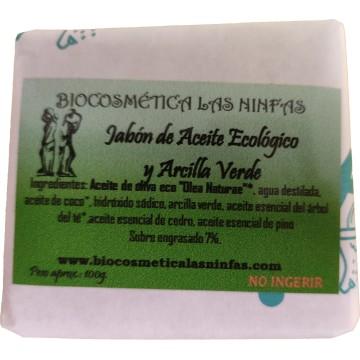 Jabón de Aceite Ecológico y Arcilla Verde 100g