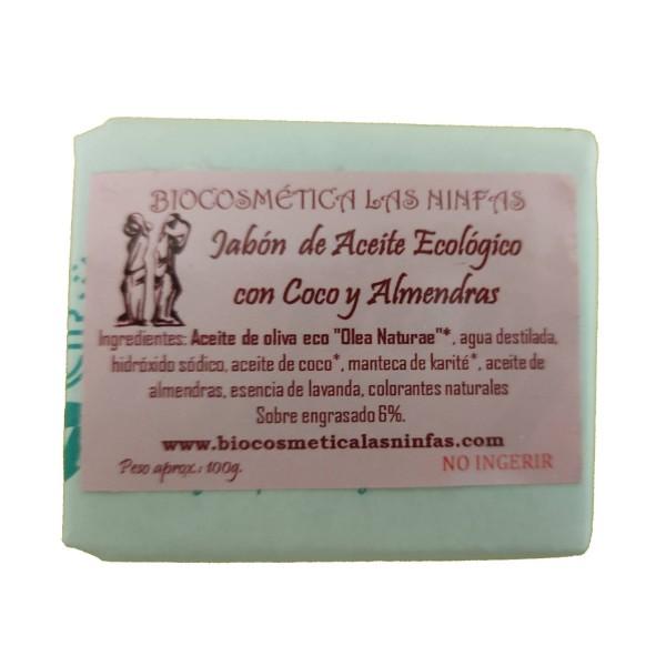 Jabón de Aceite Ecológico con Coco y Almendras 100g