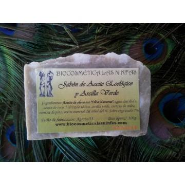 Jabón de Aceite Ecológico y Arcilla Verde
